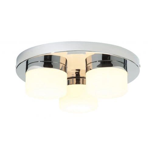 Saxby 34200 Pure 3 Light Flush Ceiling